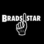 brads1star Logo White