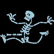 Skeleton Running Away