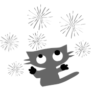 cute kitty cat & snowflakes