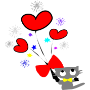 oh_happy_day kitty cat and hearts vector art