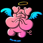 Pig Angel Praying