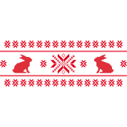 rabbits bunny hare cony leveret christmas norwegian pattern easter snowflake