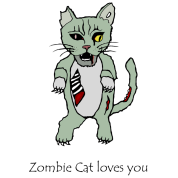 Zombie Cat Loves You