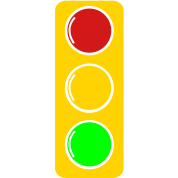 traffic lights red amber and green