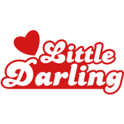 little darling with cute little love heart