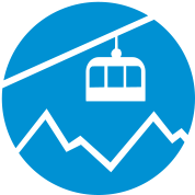 Cable car mountains
