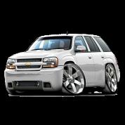 Chevy Trailblazer white truck