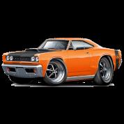 1968 Dodge Coronet Super Bee Orange Car
