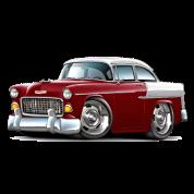 1955 Chevy Belair Maroon Car