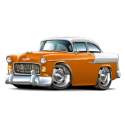 1955 Chevy Belair Orange Car