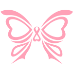 Pink Ribbon Butterfly Breast Cancer