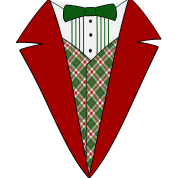 Funny Christmas Tuxedo, Red and Green Tux