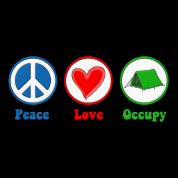 Peace Love Occupy Protest