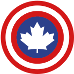 Captain Canada Shield 2 Colour