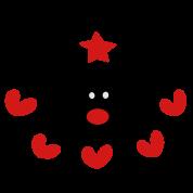 christmas reindeer hearts star pattern vector art