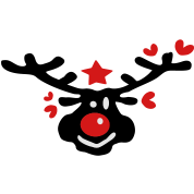 Smiley christmas reindeer vector art