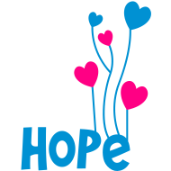 Design ~ hope with beautiful love heart balloons