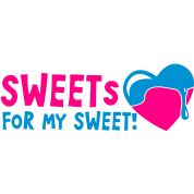 sweets for my sweet with melty love heart