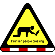 Drunken People Crossing Sign