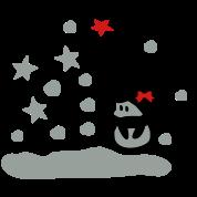 unique snowman snowy day vector art