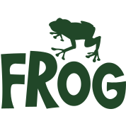 frog typo with cute little froggy