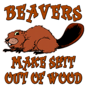 Beavers Make Shit Out of Wood