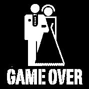 Game Over Bride Groom Wedding