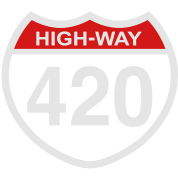 420 HIGHway weed blunt medical pot marijuana  T SHIRT