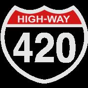 420 HIGHway weed blunt medical pot marijuana  T SHIRT