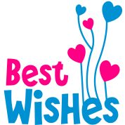 best wishes birthday image with balloons