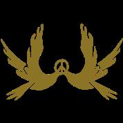 Peace symbol Dove vector graphic art