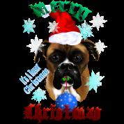 Wonderful-Christmas Boxer Dog
