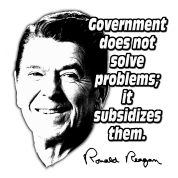 Reagan Quote Government Subsidizes Problems