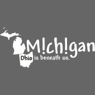 Design ~ Michigan: Ohio is beneath us.