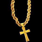 Gold Bling Huge Cross