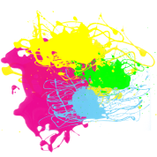 Colors Paint Splatter - Graffiti Graphic Design - Multicolor