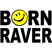 Born Raver Smiley Face t-shirt clothing design
