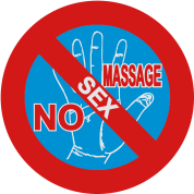 NO Sex Massage Sign