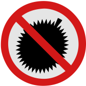 NO Durian Fruit Sign 2