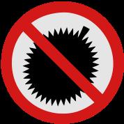 NO Durian Fruit Sign 2