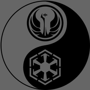 1 Logo - Star Wars - Yin Yang | Men's T-Shirt