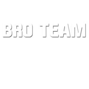 Bro Team White Words