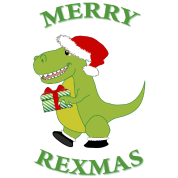 Merry Rexmas T-Rex Hoodie Sweatshirt Hoodie | Page Three Designs