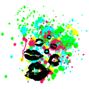 Graffiti Lip Kiss Paint Splatter - graphic