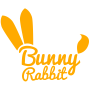 bunny rabbit typography shape