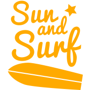 sun and surf with surfboard good for holidays!