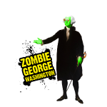 Zombie George Washington Splatter 1