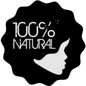 100% Natural Afro Sillhouette