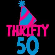 BIRTHDAY 50 thrifty FIFTY
