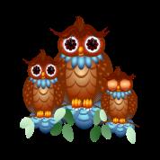 Three Alert Little Owls